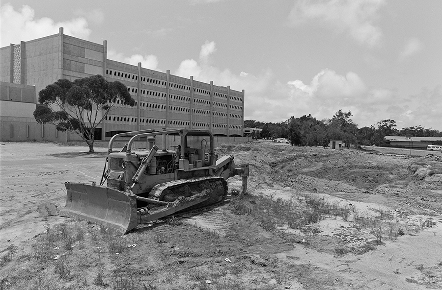 Construction at School of medicine