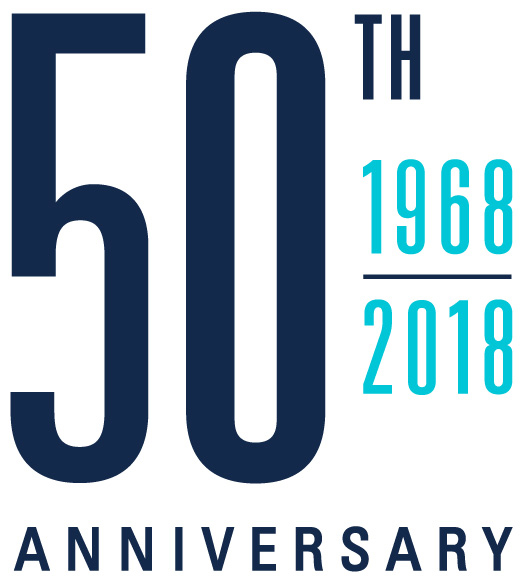 School of Medicine 50th Anniversary Logo