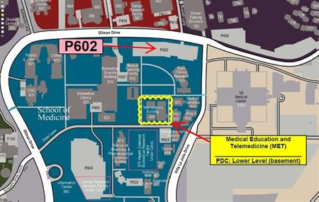 Map to Medical Education and Telmedecine building