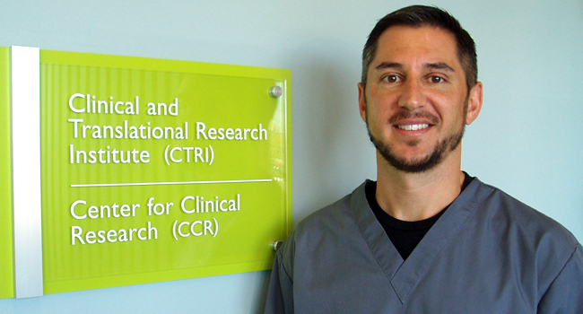 CTRI clinical coordinator Todd May