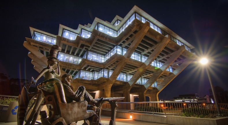 Geisel Library with statue