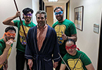Master Splinter and his Teenage Mutant Ninja Turtles seeing patients during Fellow's Clinic!