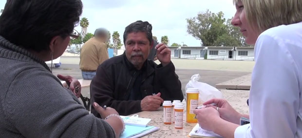 Photo of Free Clinic Physician providing consultation outdoors