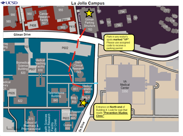 Map of Campus location for Center