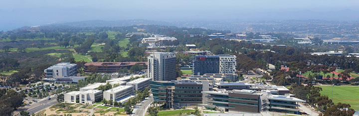 Aerial view of UCSD north campus