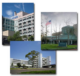 Picture of medical center buildings