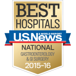 U.S. News & World Report Best Hospitals Ranking for UC San Diego Gastroenterology and GI Surgery.