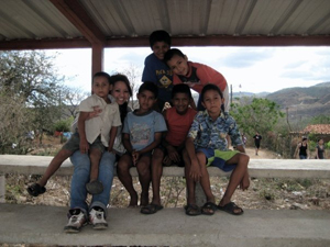 Chris Ha with Honduran Children