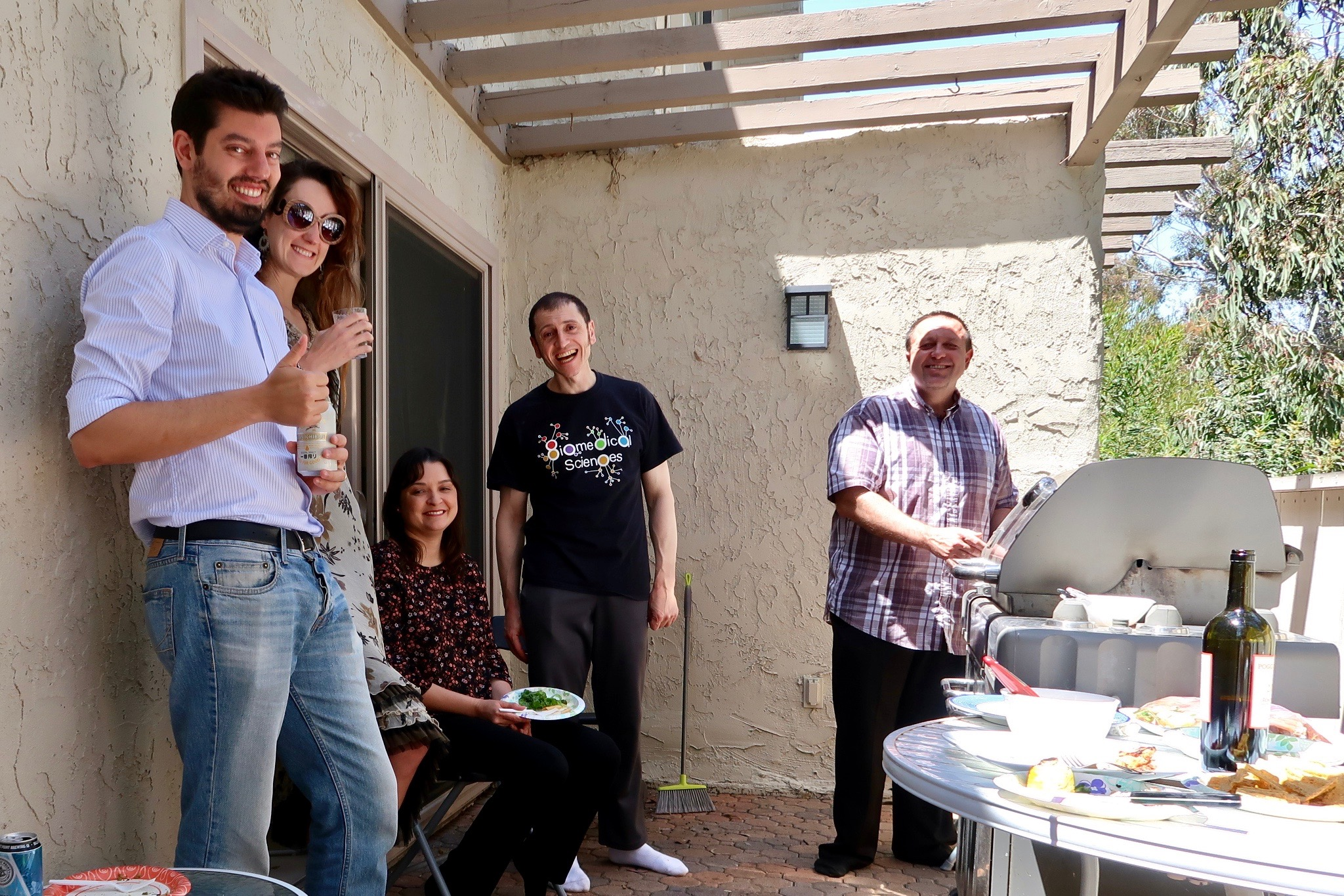 Bottini Lab Party Outside