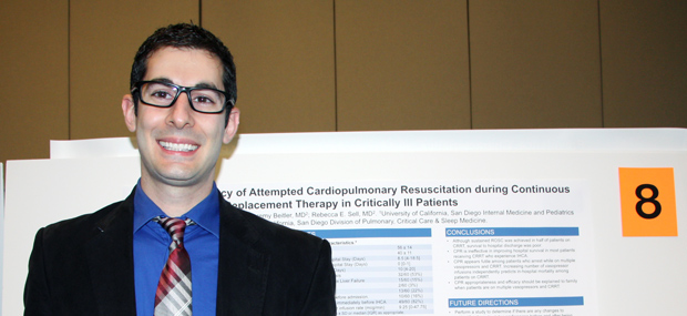 Medicine-Pediatrics resident Mazen Odish, MD, presenting at UC San Diego Resident Research Symposium, May 2016.