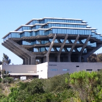 Geisel Library on the UC San Diego campus.