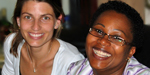 Drs. Marisa Magana and Emilia Noormahomed in Mozambique.