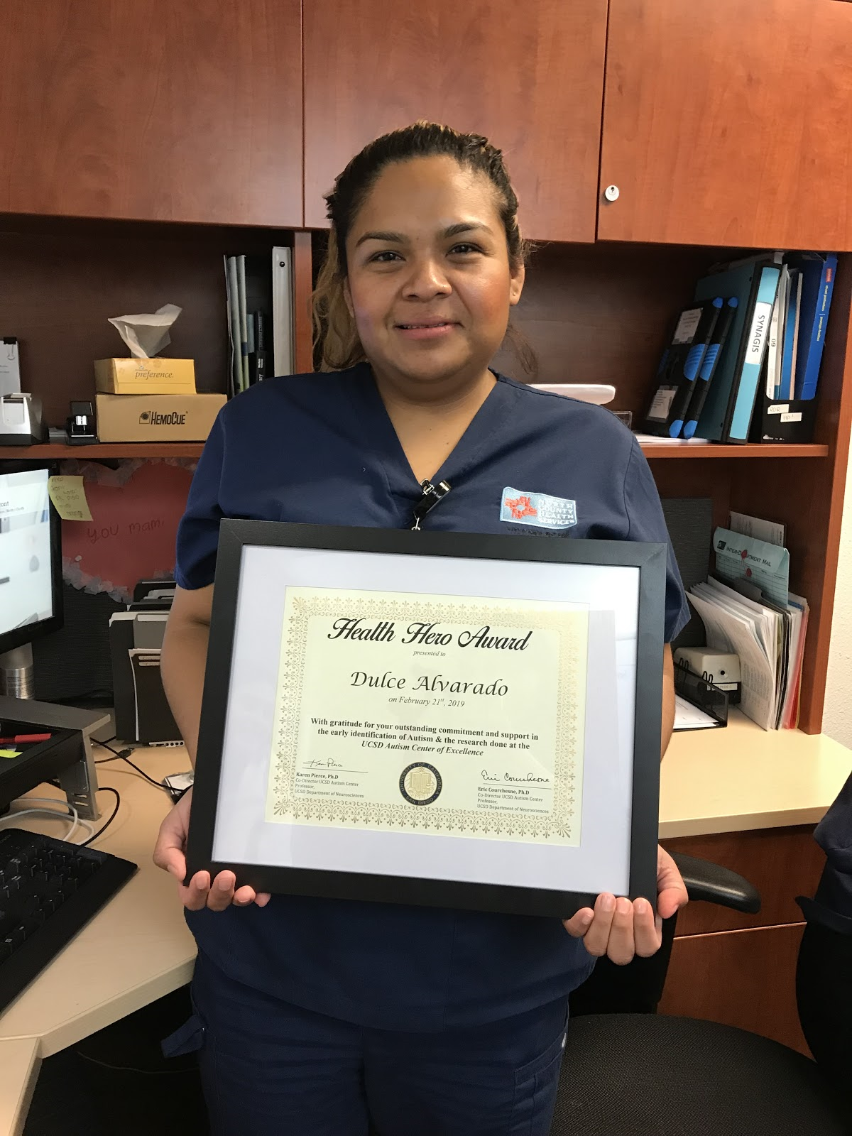 Dulce Alvarado, Hleath Hero Awardee March 2019