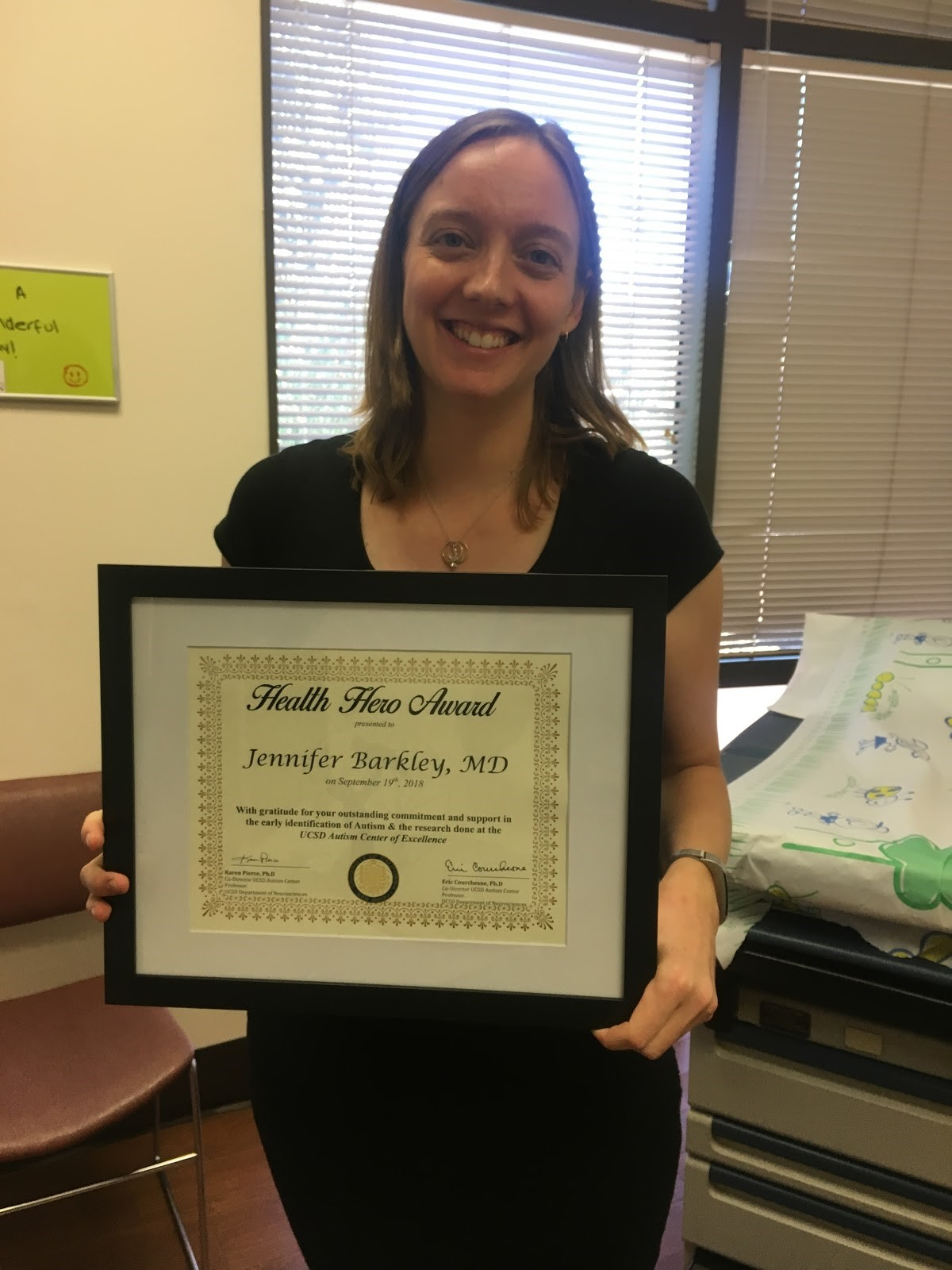 Dr. Jennifer Barkley, Health Hero Awardee Aug 2018