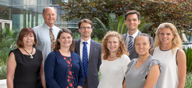 Movement Disorder Faculty photo. Dr's Lessig, Litvan,Wright, Barba, Mulligan, Coughlin, Friedman and NP Kathy
