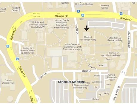 Map to Medical Teaching Facility