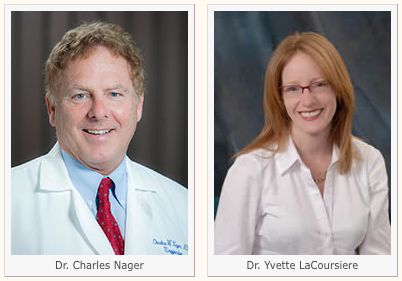 Charles Nager, MD and Yvette LaCoursiere, MD, MPH profile pictures