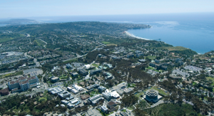 Aerial view of UCSD Campus