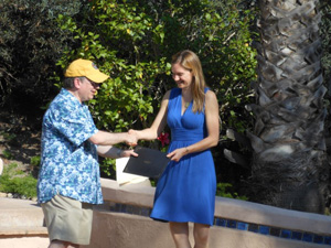 Dr. Allison Berndtson receives the second year fellowship diploma